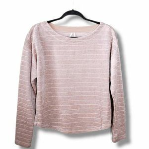 by Anthropologie S Pale Pink Chenille Oversize Top